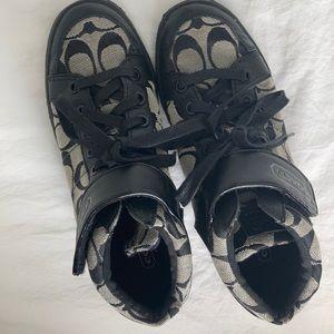 Coach high top tennis shoes